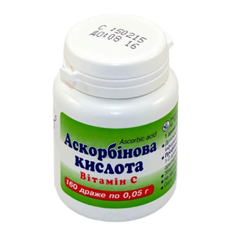 Таблетка аскорбиновой кислоты