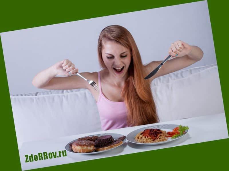Из-за чего набирается лишний вес