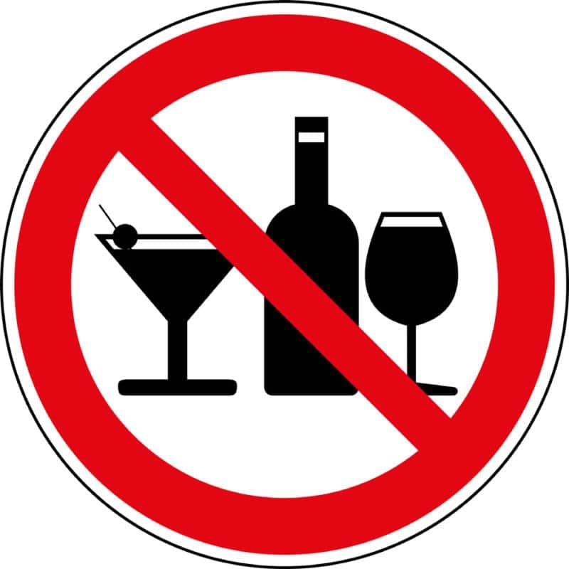 Нет алкоголю, курению и кофе