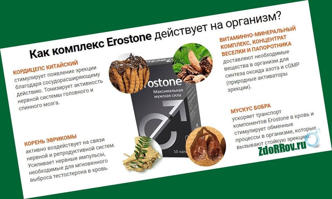 Действие препарата Erostone