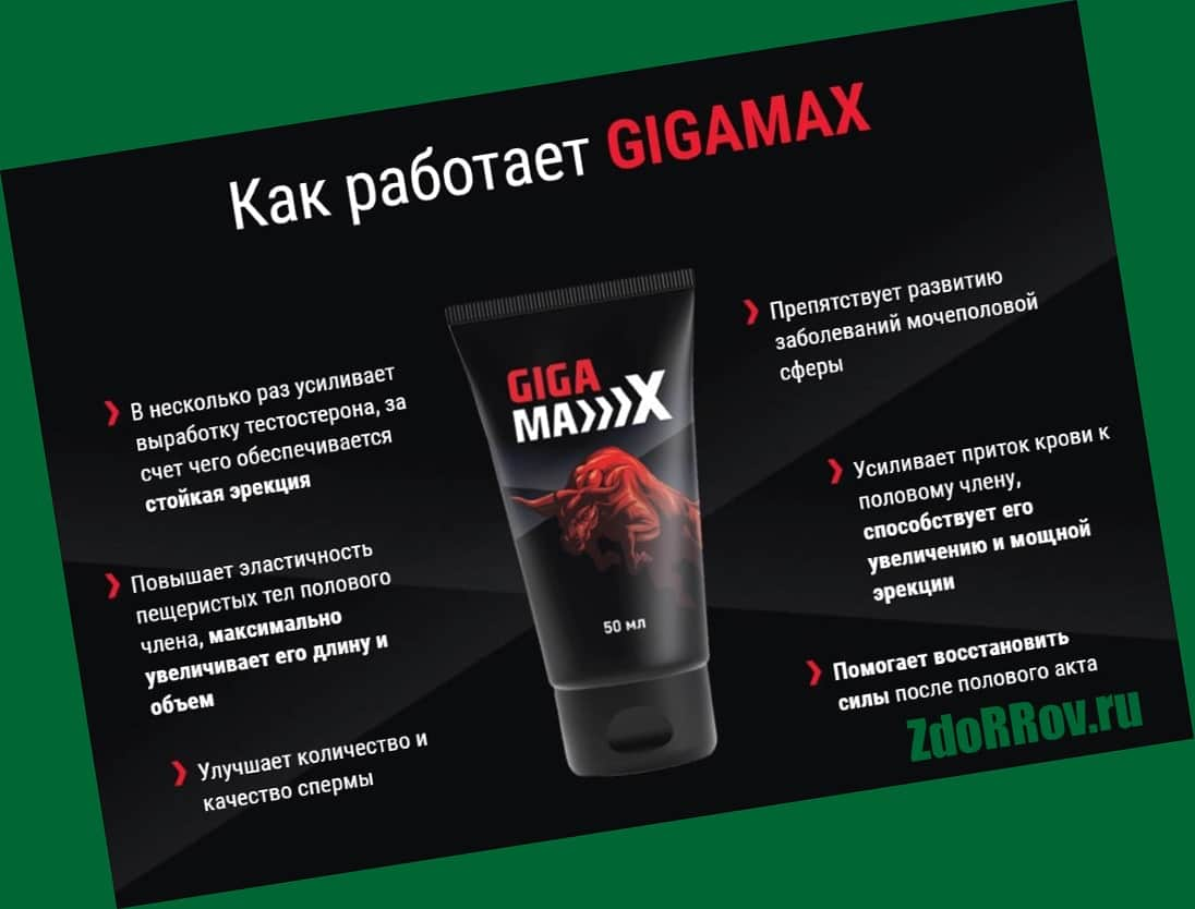 Действие препарата Gigamax