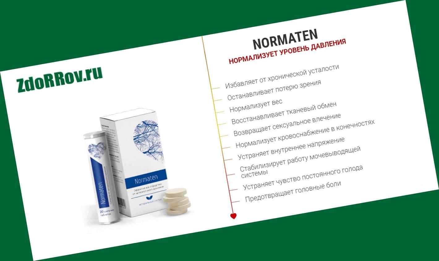 Действие препарата Normaten