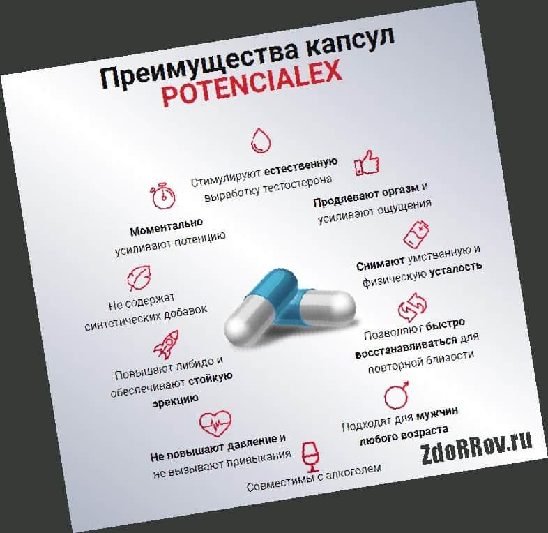 Преимущества Потенциалекс