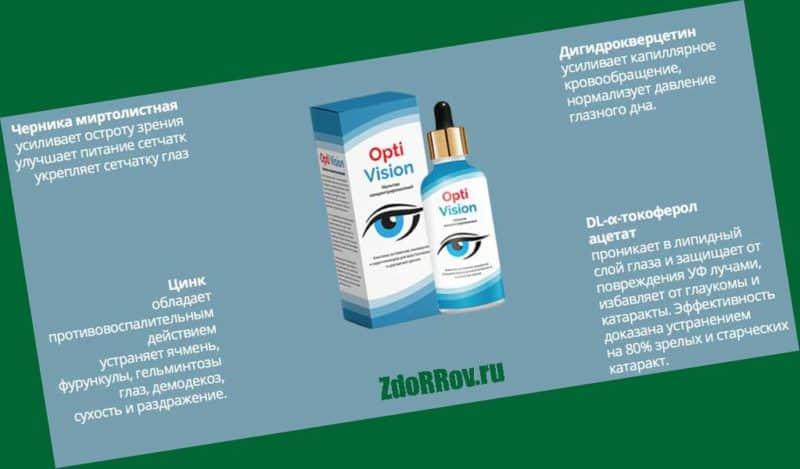 OptiVision — средство для мгновенного и безболезненного восстановления зрения.