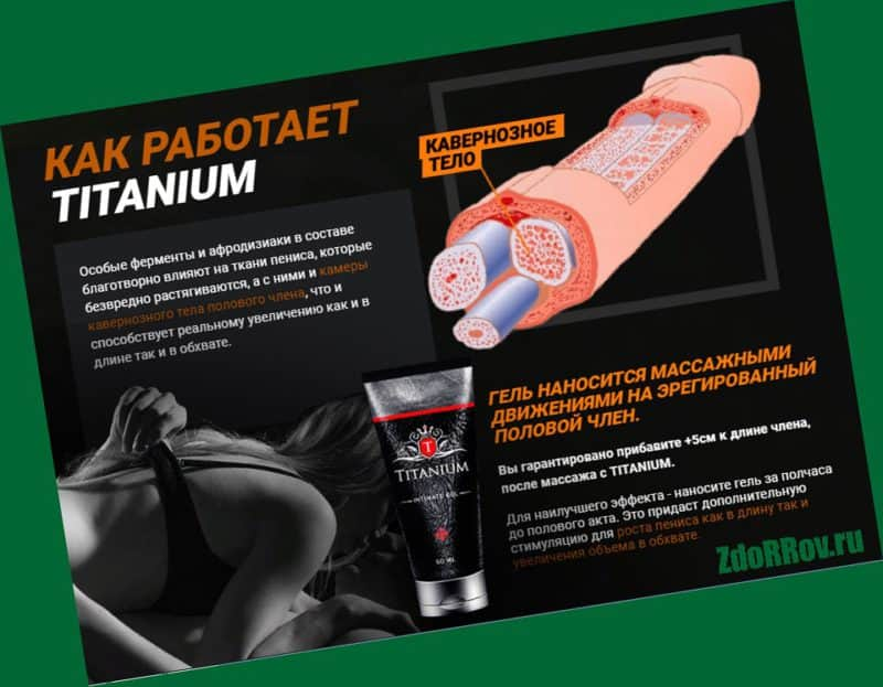 Titanium Gel – комплекс для увеличения длины и толщины полового члена